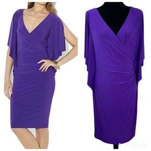 Ralph Lauren Tanzan Jersey Cascade Sleeve Dress 8